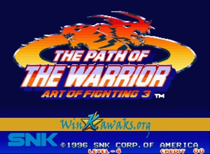 Art of Fighting 3: The Path of the Warrior (Korean version)